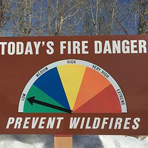 Fire Danger Aluminum Signs